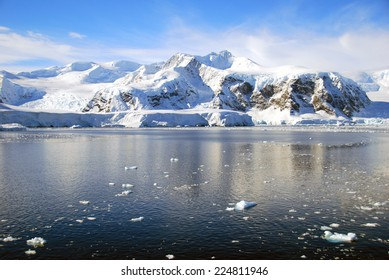 dramatic antarctic mountains