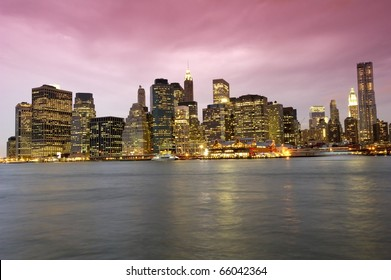 A dramatic and artistic interpretation of the skylie of New York City