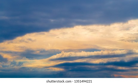 Dramatic beauty evening clouds background