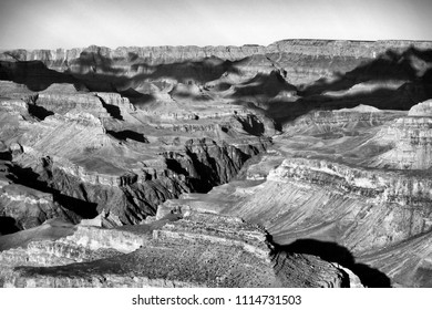 Dramatic Black and White Grand Canyon National Park From South Rim