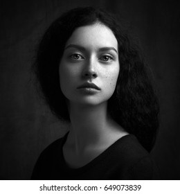 Artistic Black And White Woman Portrait Photography