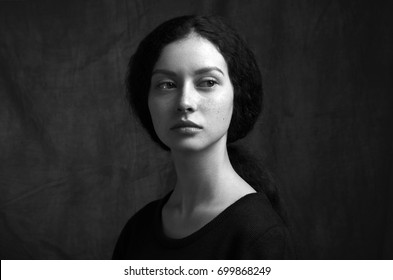 Artistic Black And White Photography Portrait