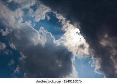 Dramatic ble Sky with rays of light