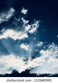 Dramatic blue sky. Background