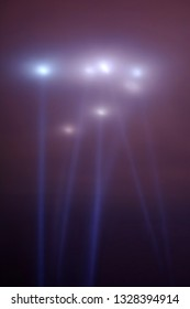 dramatic bright lights v shaped on the night sky