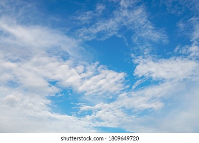 Dramatic cloud in the blue sky in Japan