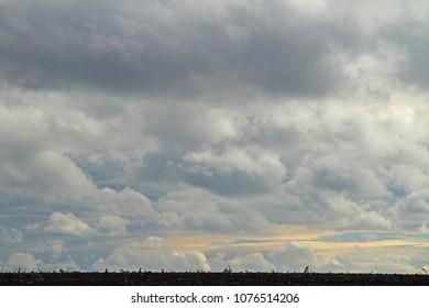 a dramatic cloud sky