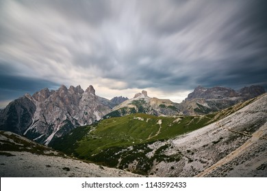 Dramatic clouds in dolomites