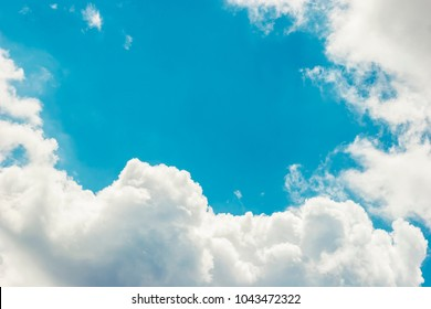 Dramatic cloudscape and sunlight jet view