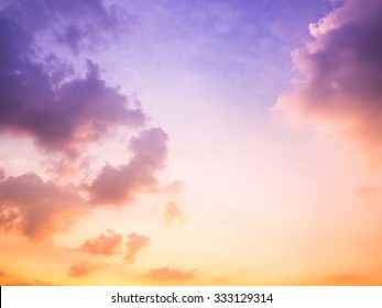 dramatic cloudscape in the twilight with sunset sunrise
