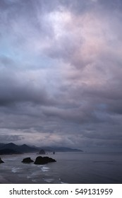 Dramatic cloudy at Ecola State Park, Oregon
