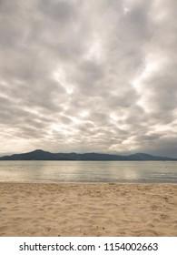 Dramatic cloudy sky at Daniela beach - Florianopolis, Brazil
