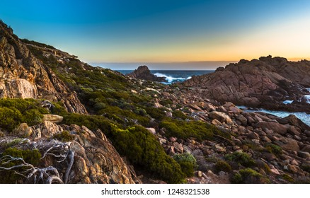 dramatic coastline rocky sugarloaf rock west Australia Cape Naturaliste