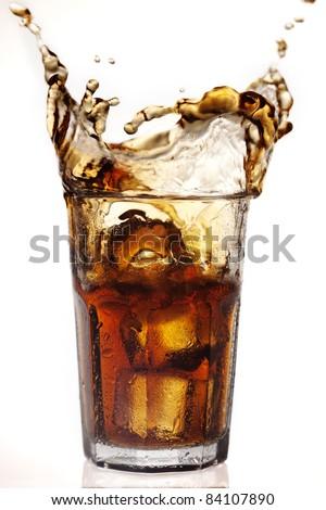 dramatic cola splash there