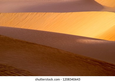The Dramatic Colors of the Arabian Desert Catch the Light of the Sun as it Begins to Set, Dammam, Eastern Province, Saudi Arabia