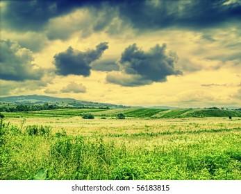 Dramatic countryside landscape