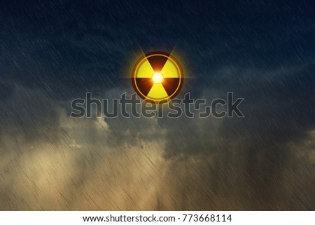 Dramatic eco background nuclear