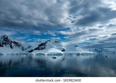 Dramatic Elephant Island in Antarctica.
