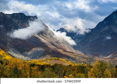 Dramatic fall landscape, Hatcher Pass, Talkeetna Mountains, Alaska