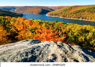 Dramatic Fall Overlook at Allegheny National Forest