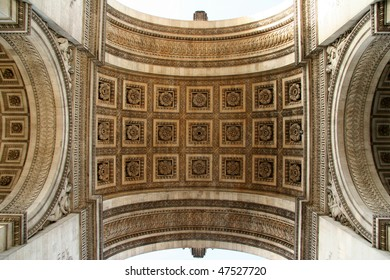 Dramatic interior view of the Arc D'Triomphe