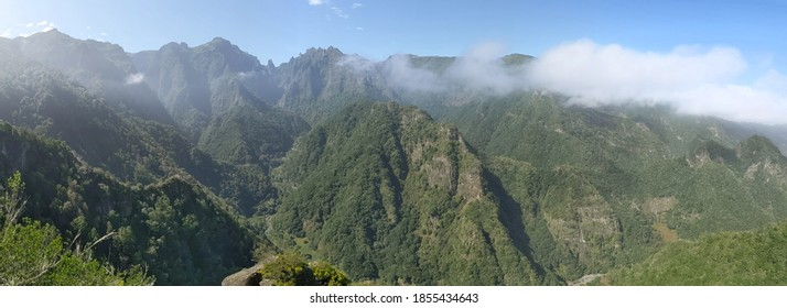 Dramatic landscape of the Madeira mountains, Portugal