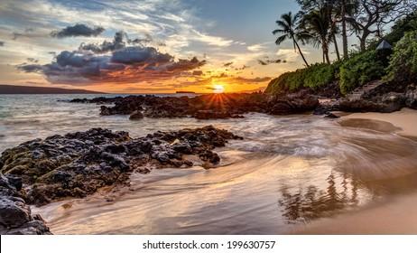 Dramatic Maui sunset