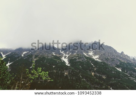 Dramatic mountain rage in fog - Vysoke Tatry in Poland