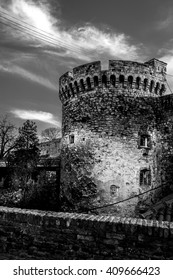 Dramatic old castle