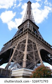 Dramatic perspective of the Eiffel Tower