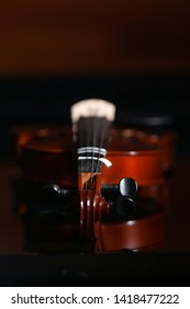 A dramatic photo of a Violin.