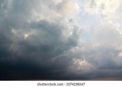 Dramatic rain cloud background pattern.