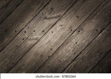 Dramatic Rustic Diagonal Wood Planks