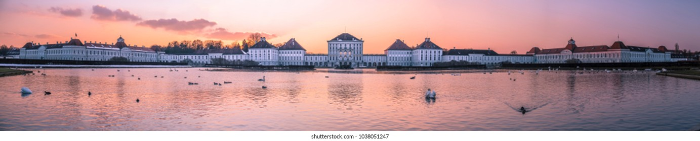 Dramatic scenery of Nymphenburg palace in Munich Germany - Europe