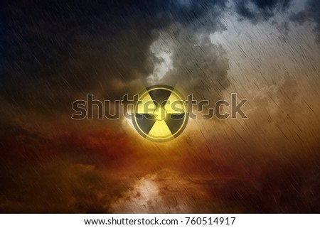 Dramatic scientific background nuclear