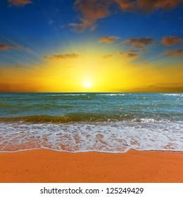 dramatic sea sunrise
