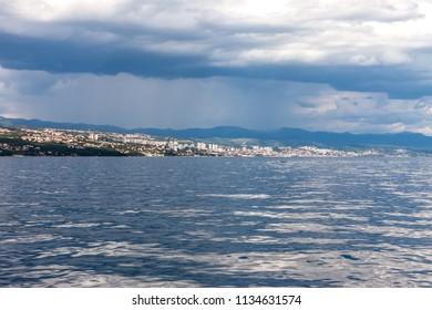 dramatic seascape Adriatic sky and sea