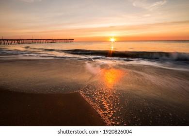 dramatic seascape image of Virginia Beach in summer