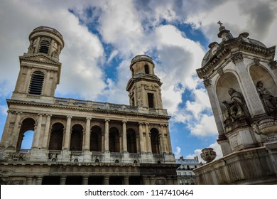 dramatic sky and arquitecture in paris france