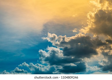 Dramatic sky with cloud