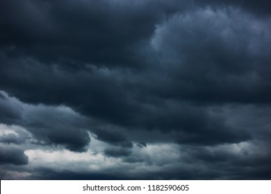 Dramatic sky with heavy clouds, may be used as background