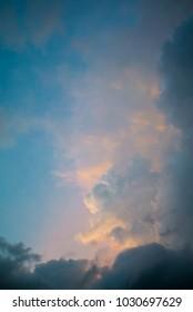 Dramatic sky, Nice clouds with twilight sky