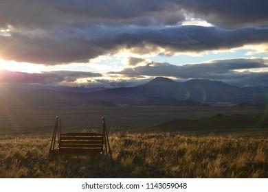 Dramatic Sky on the Rocky Mountain Range