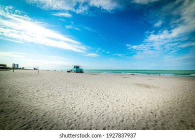 Dramatic sky over Venice shoreline. Florida, USA