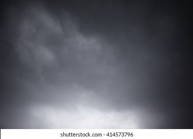 Dramatic sky with stormy clouds.