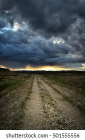 Dramatic storm sky in early Autumn