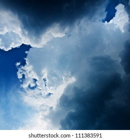 dramatic stormy clouds
