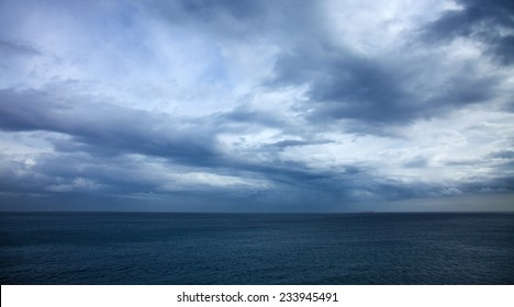 dramatic stormy sky over the ocean - Canary Islands, storm of november 2014