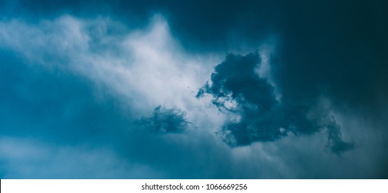 dramatic summer sky before the rain