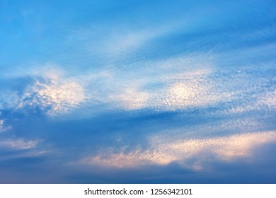 Dramatic of sunrise with cloud sky background